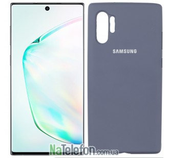 Чехол Original Soft Case для Samsung Note 10 Plus Светло Серый FULL