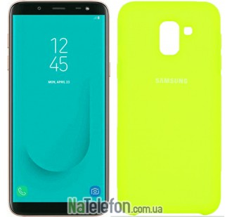 Чехол Original Soft Case для Samsung J6 2018 Лимонный