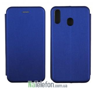 Чехол книжка U-Like Best для Samsung M205 Galaxy M20 Blue