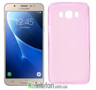 Силиконовый чехол Original Silicon Case Samsung J710 (J7-2016) Pink