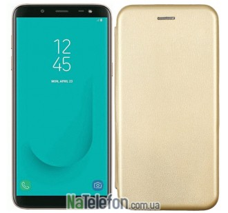 Чехол книжка U-Like Best для Samsung Galaxy J6 Plus 2018 (J610) Gold