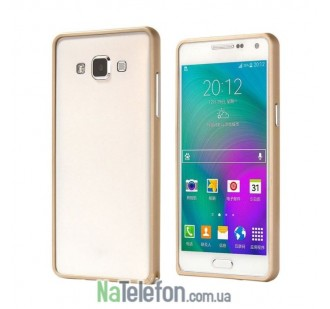 Бампер Metalic Slim для Samsung A300 (A3) Gold