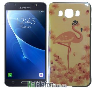 Чехол U-Like Picture series для Samsung J510 (J5 2016) Flamingo