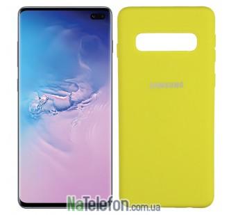 Чехол Original Soft Case для Samsung G975 Galaxy S10 Plus Ярко жёлтый FULL