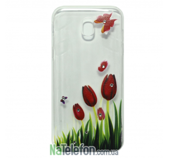 Чехол Lucent Diamond Case для Samsung J330 (J3-2017) Tulips (Red)