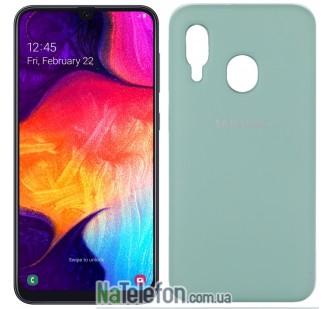 Чехол Original Soft Case для Samsung A40 2019 Светло голубой FULL