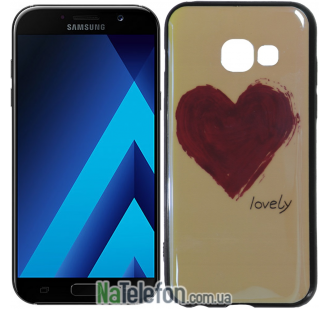 Чехол U-Like Picture series для Samsung A520 (A5 2017) Heart Blue