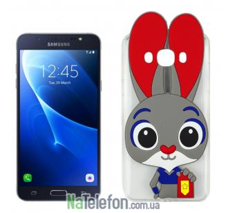 Силиконовый чехол Зверополис Rabbit Samsung J710 (J7-2016)