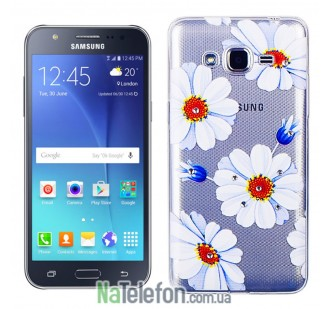 Чехол Lucent Diamond Case для Samsung J5 (J500) Daisy (Голубой)