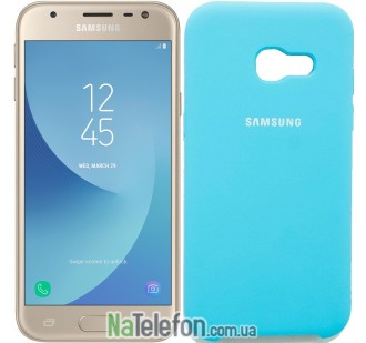 Чехол Original Soft Case для Samsung A320 (A3-2017) Голубой