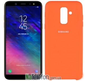 Чехол Original Soft Case для Samsung A605 Galaxy A6 Plus 2018 Оранжевый