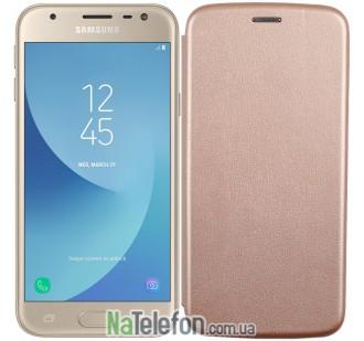 Чехол книжка U-Like Best для Samsung Galaxy A7 2017 (A720) Gold