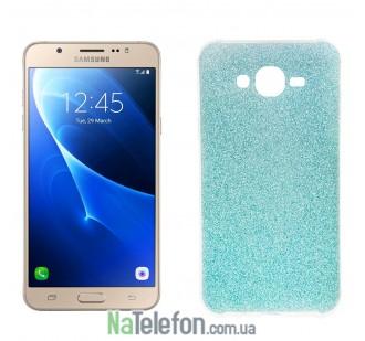 Силиконовый блестящий чехол Remax Glitter Silicon для Samsung J710 (J7-2016) Blue