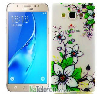 Чехол Diamond Silicone для Samsung A300 (A3) White Lilies