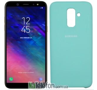 Чехол силиконовый оригинальный Samsung A605 Galaxy A6 Plus 2018 Мятный