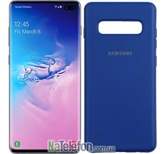 Чехол Original Soft Case для Samsung G975 Galaxy S10 Plus Темно Синий
