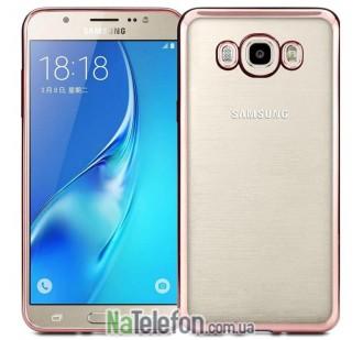 Чехол Electroplating TPU для Samsung J710 (J7 2016) pink
