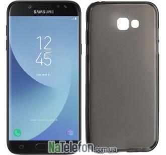 Ультра тонкий силиконовый чехол Remax 0.2 mm для Samsung A720 (A7-2017) Black