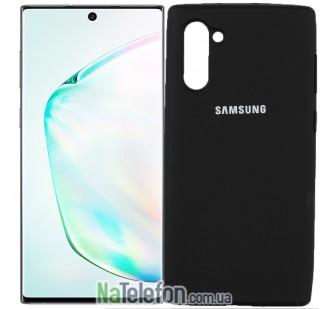Чехол Original Soft Case для Samsung Note 10 Чёрный FULL