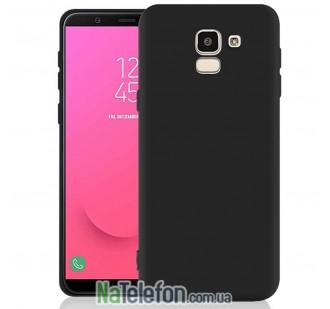 Силиконовый чехол Original Silicon Case Samsung J600 (J6-2018) Black