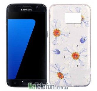 Чехол Lucent Diamond для Samsung G930 (S7) Daisy (Blue)