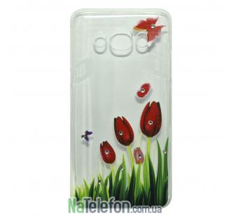 Чехол Lucent Diamond для Samsung J710 (J7-2016) Tulips (Red)
