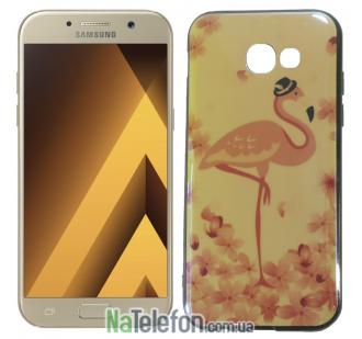 Чехол U-Like Picture series для Samsung A320 (A3 2017) Flamingo