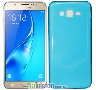Чехол Ultra Thin Silicone Remax 0.2 mm для Samsung J700 (J7) Blue