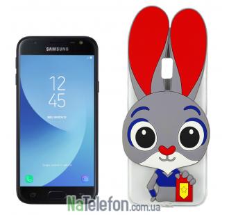 Силиконовый чехол Зверополис Rabbit Samsung J330 (J3-2017)