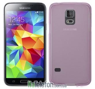 Ультра тонкий силиконовый чехол Remax 0.2 mm для Samsung G900 (S5) Pink