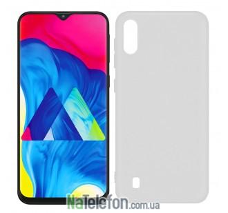 Ультра тонкий силиконовый чехол 0.3 mm для Samsung M105 Galaxy M10 (2019) White