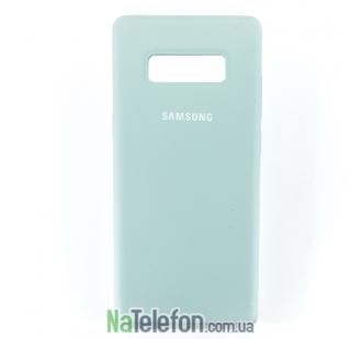 Оригинальный силиконовый чехол для Samsung N950 (Note 8) Голубой
