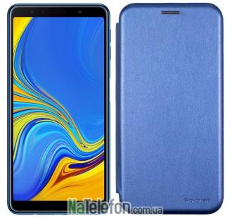 Чехол книжка U-Like Best для Samsung Galaxy A7 2018 (A750) Blue