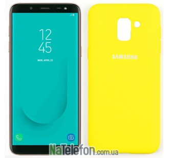 Чехол Original Soft Case для Samsung J6 2018 Ярко желтый FULL