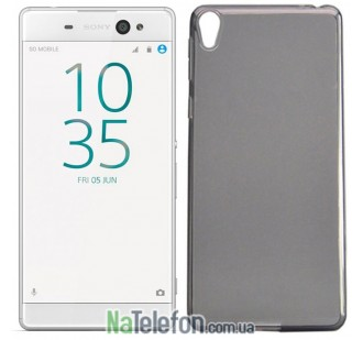 Силиконовый чехол Original Silicon Case Sony Xperia XA Ultra Black