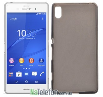 Силиконовый чехол Original Silicon Case Sony D6653/L55/Xperia Z3 Black