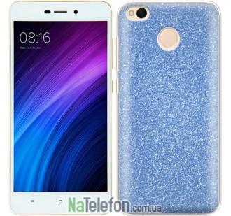 Чехол Silicone 3in1 Блёстки для Xiaomi Redmi 4x Blue