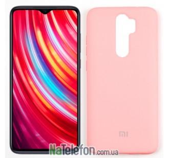 Чехол силиконовый оригинальный для Xiaomi Redmi Note 8 Pro Розовый FULL