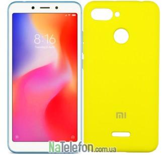 Чехол Original Soft Case для Xiaomi Redmi 6 Желтый FULL