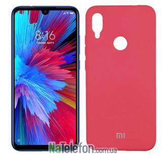 Чехол Original Soft Case на Xiaomi Redmi Note 7 Ярко малиновый FULL