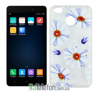 Чехол Lucent Diamond Case для Xiaomi Redmi 3s/3x/3 Pro Daisy (Blue)