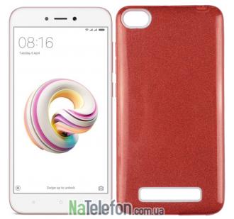 Силиконовый чехол Silicone 3in1 Блёстки для Xiaomi Redmi 4a Red