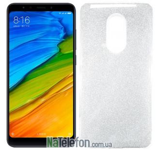 Силиконовый чехол Silicone 3in1 Блёстки для Xiaomi Redmi 5 Plus White