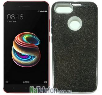 Силиконовый чехол Silicone 3in1 Блёстки для Xiaomi Mi5X/MiA1 Black