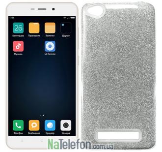 Силиконовый чехол Silicone 3in1 Блёстки для Xiaomi Redmi 4a White