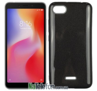 Чехол Silicone 3in1 Блёстки для Xiaomi Redmi 6a Black