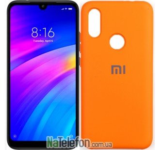 Чехол Original Soft Case для Xiaomi Redmi Note 7 Оранжевый