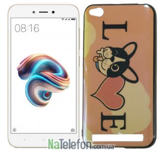 Чехол U-Like Picture series для Xiaomi Redmi 5a/Redmi Go Love Pink