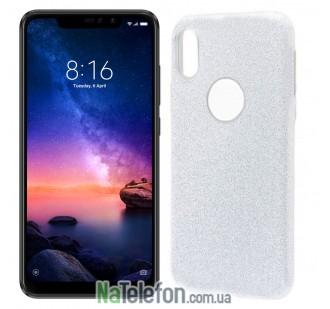 Чехол Silicone 3in1 Блёстки для Xiaomi Redmi 6 Pro/Mi A2 Lite White