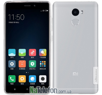 Чехол силиконовый прозрачный NILLKIN Nature TPU Xiaomi Redmi 4 White